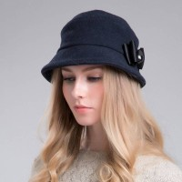 Hat Ms. popular autumn and winter warm wool materials basin-type hat hat woolen cap