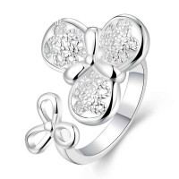 New fashion low price discount fashion personality style clover design silver rings in Europe and the US market accessories jewelry