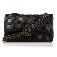 The new discount market in Europe and the United States Medal of leather ladies bag chain bag special diamond pattern leather shoulder bag Promotion
