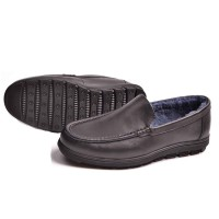 Winter discount brand new style men's shoes leather shoes low price men's wool warm casual shoes