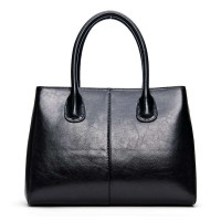 The new special leather ladies hand bag classic luxury brand leather bag middle-aged lady large leather bag