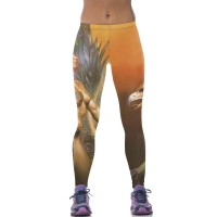 Printed leggings hot sale in Europe and the US market, Ms. Angel Man Slim pants comfortable breathable slim hip