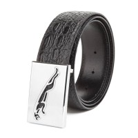 New Arrivals Men's copper belt leather belt first layer of top Italian material smooth buckle