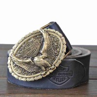 Low price new style top material copper belt first layer of leather men's leather belt men's leather belt retro