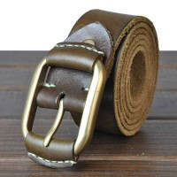 The new style leather belt men's foreskin belt first layer of leather retro wild casual leather belt popular belt promotion