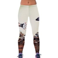 The new masculine style workout warrior fashion printed leggings high elastic waist yoga pants hit 79847