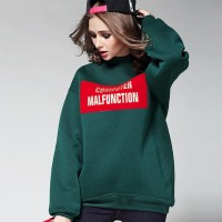 New models in Europe and the US market fashion leisure letters printed pattern simple high-necked long-sleeved sweater Blouse A