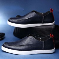 Fast delivery leather head layer cowhide men's shoes British style fashion casual shoes breathable shoes casual all matches