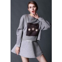 Spring new style ladies fashion casual sweater bottoming shirt blouse ladies