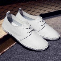 Fast delivery leather ladies' shoes four seasons paragraph casual handmade white shoes breathable lightweight shoes to help low