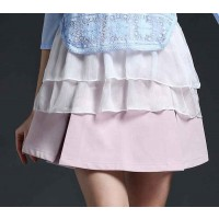 Summer fashion new models solid European market and the US market in Europe station ladies slim skirts elastic skirt A skirt child