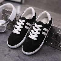 Front lace solid and durable rubber material hot selling brand shoes autumn shoes new style canvas shoes