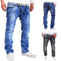 Low price new style men's spring and summer in Europe and the US market lower prices personality zipper decoration casual denim trousers
