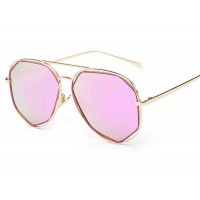 P0713 new models sunglasses polarized sunglasses Ms. sunglasses pink glasses metal material discount