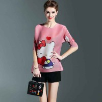 Summer new high-end international brands in Europe and the United States market, short-sleeve T-shirt printing simple loose shirt t-shirt