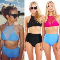 European market and the US market sales of hot-filament yarn two-piece bikini Europe and the United States market new split swimsuit models