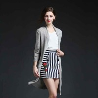 European market and the US market high-end solid Ms. sweater Europe station all models loose long-sleeved thin cardigan style