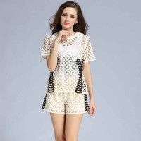 Europe station summer new style fashion cotton casual shorts suit the European market and the US market women's solid color suit