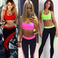 Europe station Hot casual two-color tight yoga pants back strap piece new style fast sales