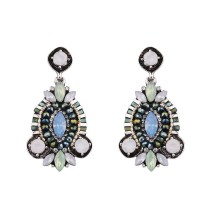 Limited discount European market and the US market discounts ear jewelry alloy diamond retro flower shape earrings Ms. section
