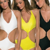 Hot Sales sling strap piece swimsuit Luyao European market and the US market, selling low price swimsuit