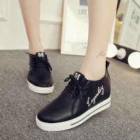 Autumn shoes casual shoes lady shoes low shoes high-heeled fashion students inside round