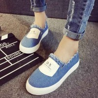 Ms. casual shoes breathable canvas shoes lady casual flat white shoes student black shoes Promotions