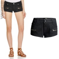 European market and the US market jeans summer new style ladies black stretch denim shorts