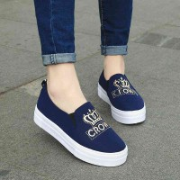 Spring new models Carrefour Shoes with thick high-heeled interior motion lady with thick SHOES casual shoes lazy lady