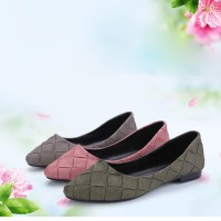 Ms. Fall Flats new models dew instep pointed flat shoes casual shoes knit stream Ms. Flats