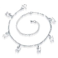 Popular puppy anklet silver ornaments discount hot sales good quality hot sales in Europe and the US market simple style foot ornaments