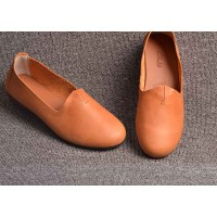 Fast delivery models fall fashions retro brand ladies' shoes handmade original leather casual shoes casual shoes