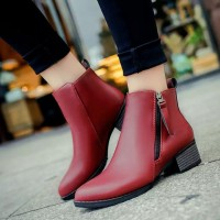 Autumn and winter new models in Europe and the US markets boots single boots thick with Martin boots to help low leisure bare ankle boots ladies fashion boots