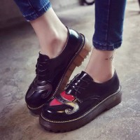 Promotional discount autumn new style British style retro style shoes ladies shoes rough with casual shoes casual shoes