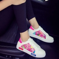 Promotional discount summer shoes three bars, modern style ladies shoes running shoes sport casual shoes graffiti