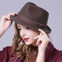 Men Women wool hats and caps wool material jazz hat autumn and winter fashion retro hat warm hat new style