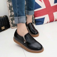 Autumn subsection British style shoes child casual shoes wind round zipper student flat with flat shoes lady flat shoes