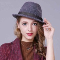 Promotions autumn and winter all match fashion jazz hat Men Women high fashion hats and caps wool material hats discounts