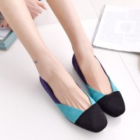 Fluffy vamp round flat casual shoes simple and comfortable with dew instep colorful casual shoes, ladies shoes in man Fuller Shoes
