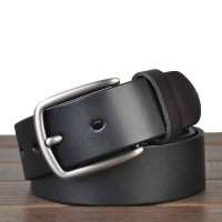 Brand M's leather lead layer cowhide leather belt casual pin buckle alloy buckle head online shopping fast delivery