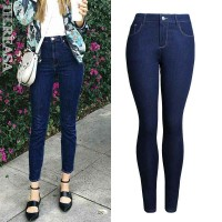 European market and the US market fall new style jeans trousers Ms. Slim stretch pencil pants discount