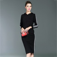 European stations autumn new fashion style solid color casual sports skirt suit fashion European market and the US market sweater suit