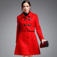 Fall and winter clothes wool coat lady long material style wool coat material piece bridal wear toast dress
