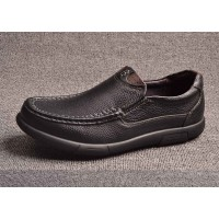 Discount autumn new models fashion first layer of skin leather men's shoes men's casual shoes simple shoes low price