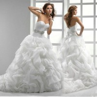 Discount new style low-cut wedding dress bandage wedding dress marry long tail wedding dress