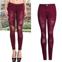 Fall fashion personality Slim stretch pencil pants Ms. Slim pants color pants Europe and the United States market sales of hot flashes