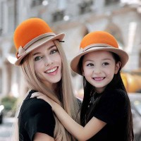 Ms. autumn and winter hat dome hat cute wool material hat female hat lady hat paternity