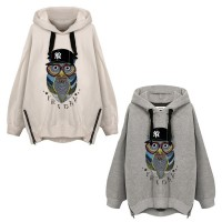 Girl's Oversized Cool Casual Pullover Hooded Sweatshirt Hoodies