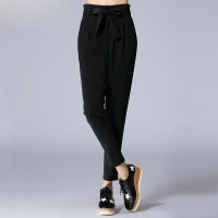 Overweight Ms. Autumn new models big yards pants European market and the US market overweight ladies loose slim high waist trousers loose pants