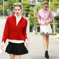 Autumn new models Slim ladies woolen coat European market and the US market discounts thick wool coat